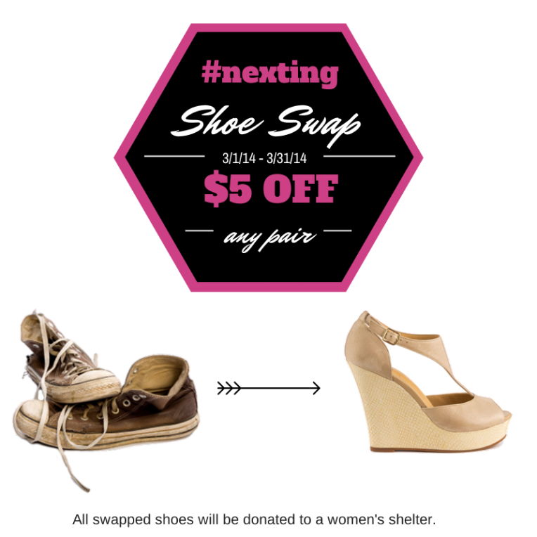 nexting shoe swap