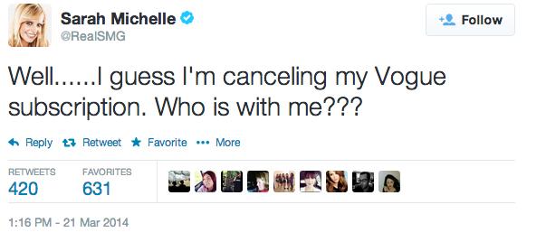 Sarah-Michelle-Gellar-Tweet