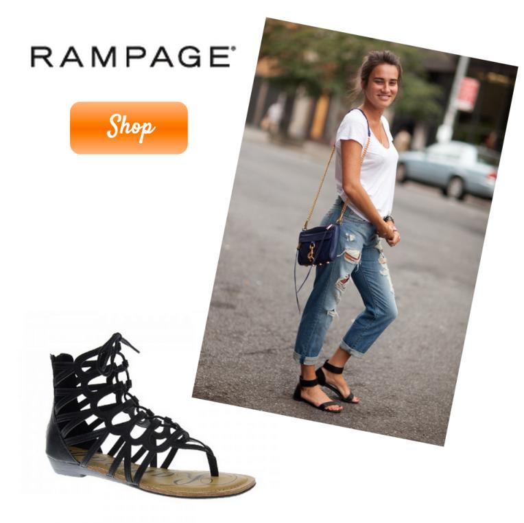 rampage salina black gladiator sandal
